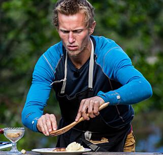 MENER HAN BURDE VUNNET: Frank Løke er sikker på at han hadde vunnet matkonkurransen om det ikke hadde vært for en mislykket saus. Foto: Alex Iversen / TV 2