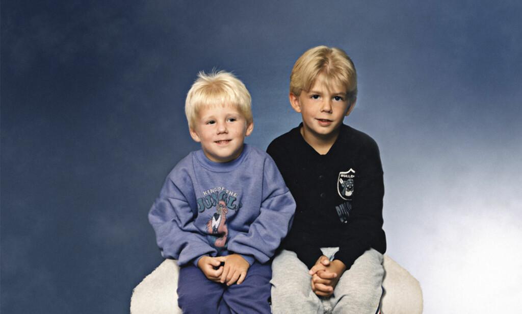 UTPEKT: Robin og Christian var fem og sju år da de ble pekt ut skyldige for drap av svensk politi. Foto: NRK