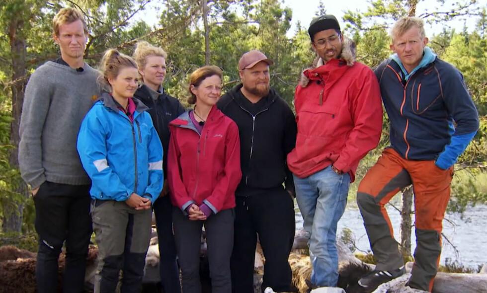 MASSE-EXIT: Etter kveldens «Farmen kjendis»-episode er både Frank Løke, Maiken Wahlstrøm Nilssen, Stian Thorbjørnsen og Stian Sandø ute av programmet. Foto: TV 2