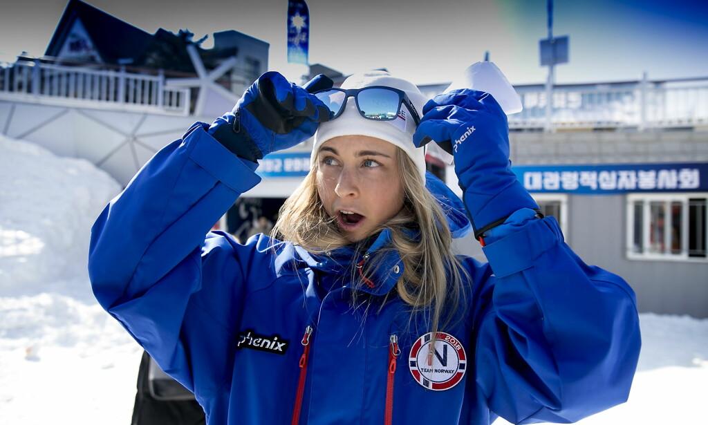 OL-DEBUTANT: Ingrid Landmark Tandrevold var en av flere skiskyttere som fikk en nødmelding på mobilen i OL-byen. Foto: Bjørn Langsem / Dagbladet