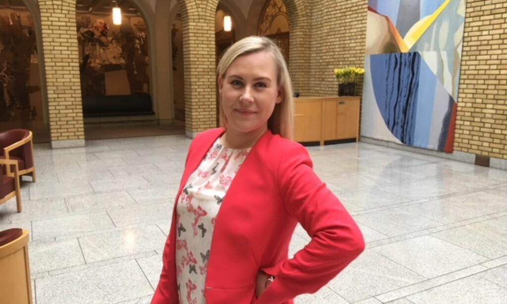 AP: Lene Vågslid mener Stortinget må vedta forslaget fra Sp for å sikre en reell styrking av det lokale politiet. Foto: Gunnar Ringheim / Dagbladet