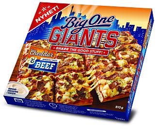 AMERIKANSK: BigOne Giants med cheddar og ost er visuelt inspirert av det New York-baserte amerikansk fotball-laget Giants