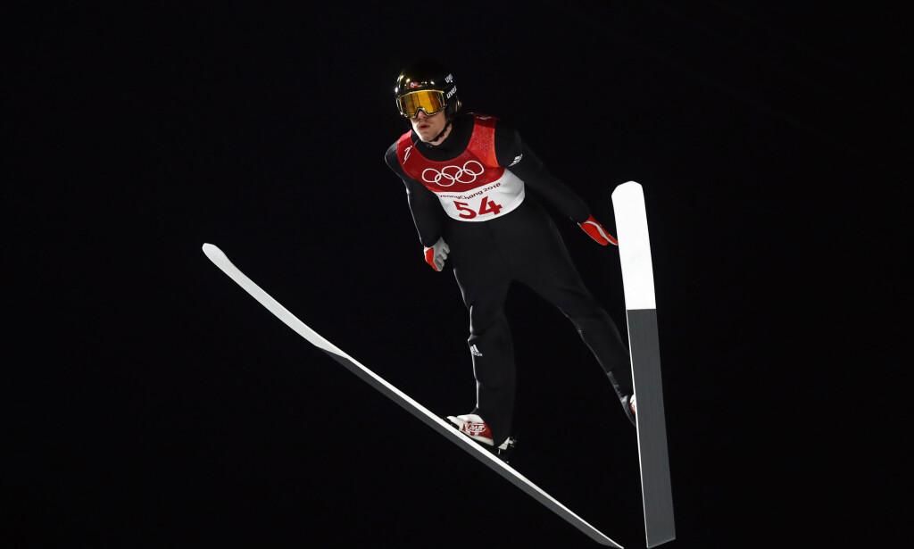 BESTE NORSKE: Daniel-André Tande ble beste norske med en åttendeplass i kvalifiseringen i hopp liten bakken. Foto: REUTERS/Kai Pfaffenbach/NTB scanpix