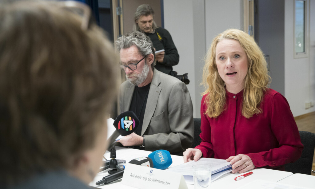 AVTALE: Arbeids- og sosialminister Anniken Hauglie har leder forhandlingene om ny offentlig tjenestepensjon. Foto: Vidar Ruud, NTB Scanpix.