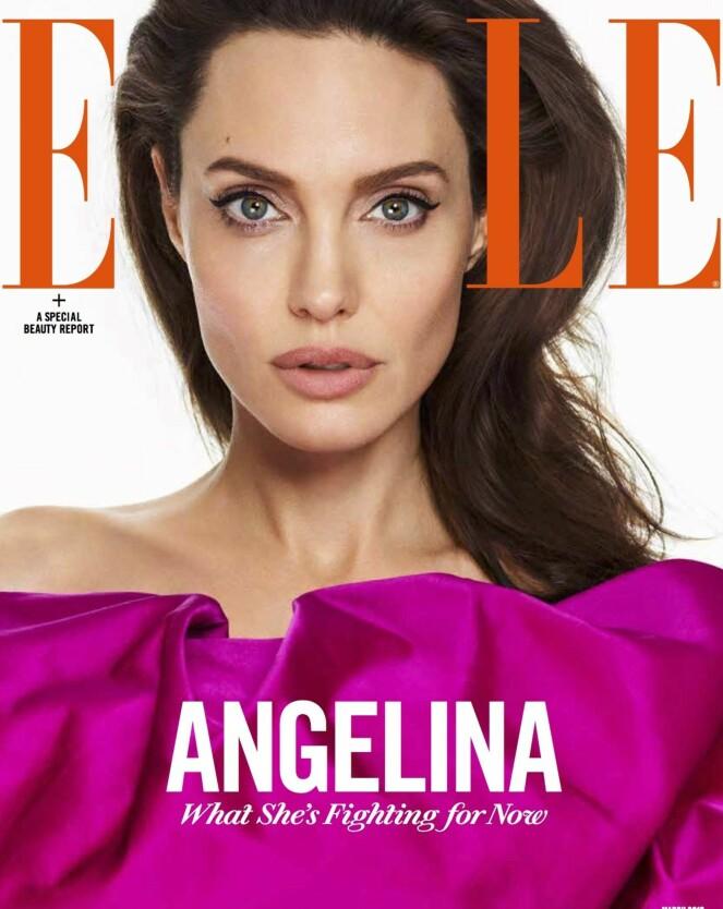 FORSIDEPIKE: Angelina Jolie pryder månedens forside av ELLE.