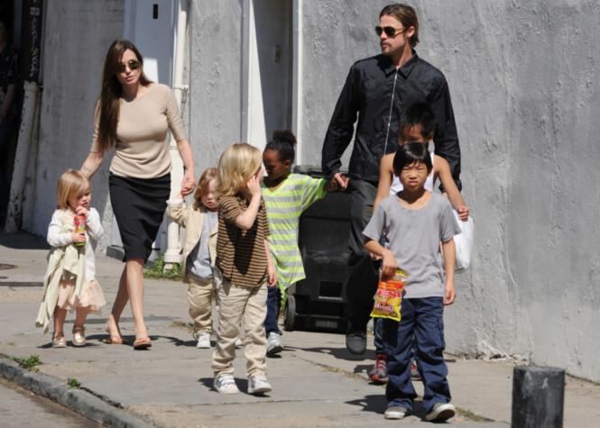 FOKUS: Gjennom skilsmissen har det vært viktig for stjernene at barnas trygghet har stått i fokus. Her var de sammen i 2011. Foto: NTB scanpix