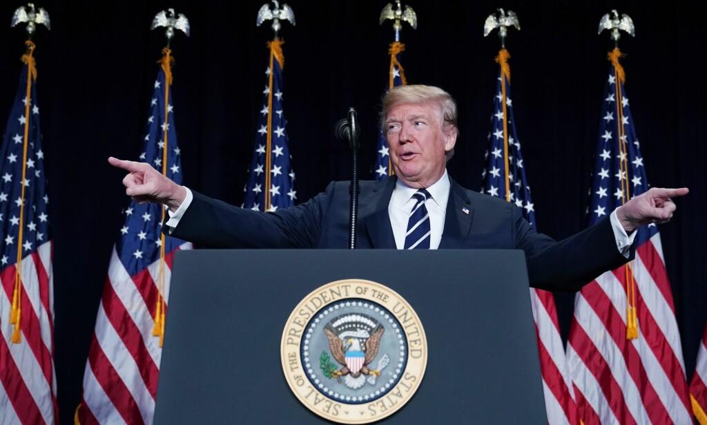BUDSJETTAVTALE: Det kan gå mot en ny «shutdown» i USA, noe Donald Trump faktisk tok til orde for tidligere denne uka. Foto: AFP PHOTO / MANDEL NGAN / NTB scanpix