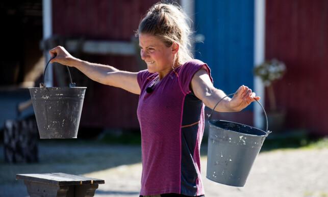 TUNGT: Armene til Martine Ek Hagen begynte å svikte på det niende minuttet. Foto: Alex Iversen / TV 2