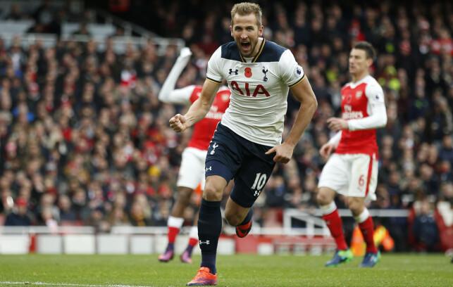 TRIVES MOT ARSENAL: Harry Kane har seks mål på seks kamper mot Arsenal. Foto: Reuters / Andrew Couldridge / NTB Scanpix