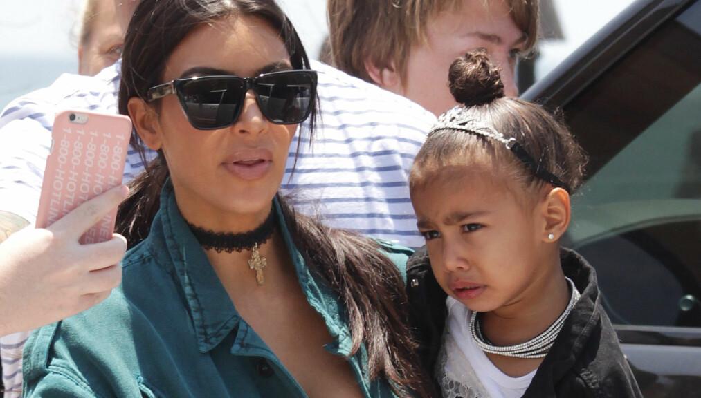 <strong>TOPPLØS:</strong> Kim Kardashian delte nylig et bilde på Instagram-profilen sin som vakte stor oppsikt blant følgerne. Foto: NTB Scanpix