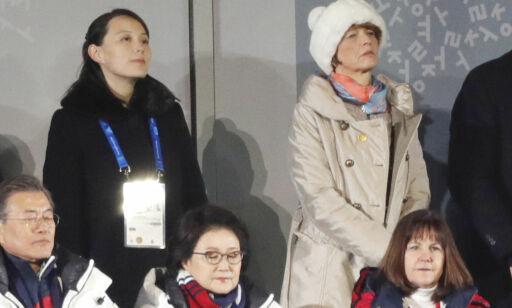 image: Her står Kim Yo-jong få meter unna USAs visepresident Mike Pence
