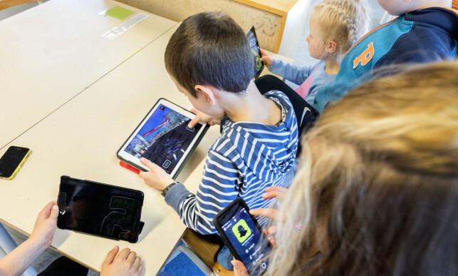 FILTER: Christer Aas foreslår å etablere en nasjonal samordning for å filtrere internettilgangen for småskolelever som bruker læringsbrett på skolen. Illustrasjonsfoto: Gorm Kallestad / NTB scanpix