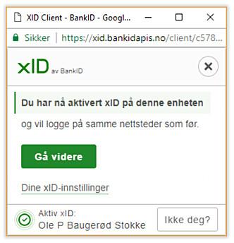 <strong>DU FÅR VALGET:</strong> Du kan selv velge om du vil bruke xID, og eventuelt på hvilke sider. Foto: Ole Petter Baugerød Stokke