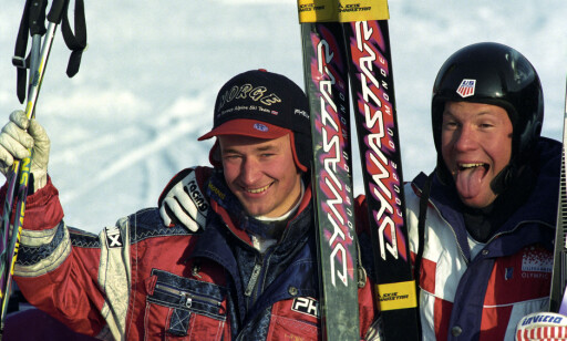 ANDREPLASS: Tommy Moe slo Aamodt med fire hundredeler. Foto: Jan Greve / NTB scanpix