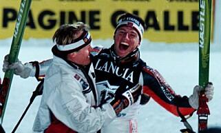 VM-GULL: Tom Stiansen da han tok gull i VM i Sestriere. Foto: Calle Törnström / NTB