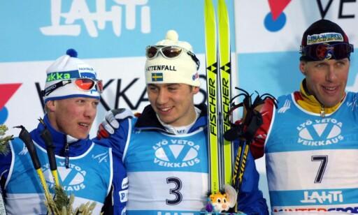 SLO MÜHLEGG: Per Elofsson slo selv Johan Mühlegg i Lahti-VM, før spanjolen tok jukset til et nytt nivå i OL i Salt Lake City. Foto. NTB Scanpix