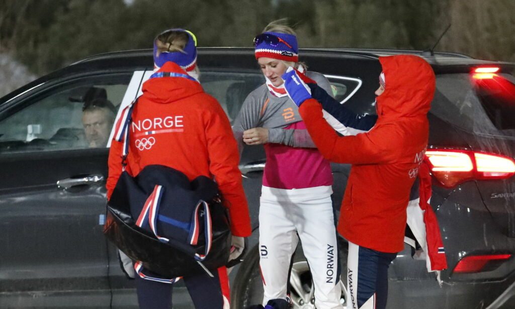image: Bjørgen hadde ikke bedre ski enn de andre norske jentene