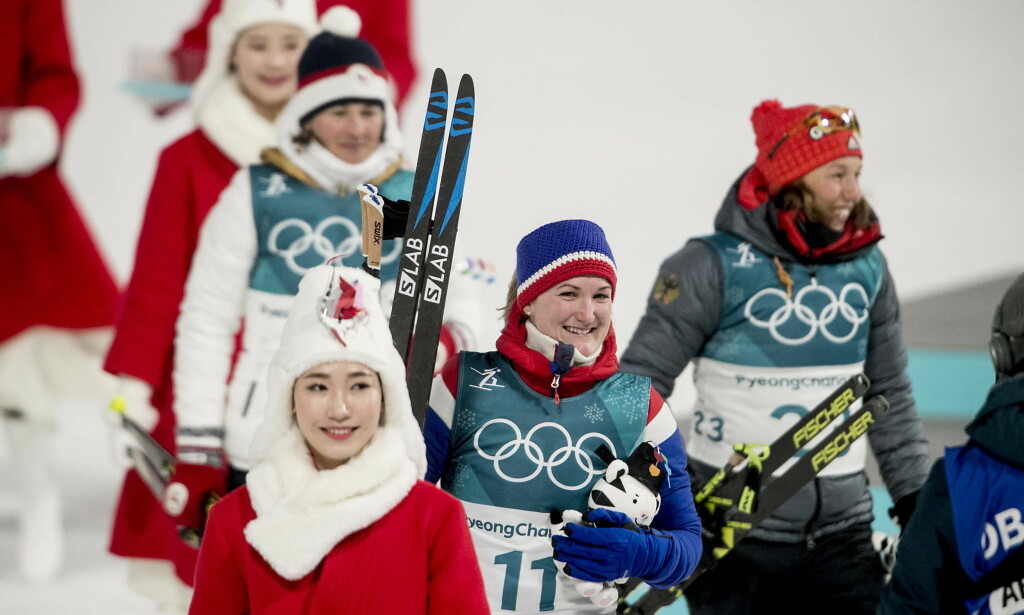 SØLV: Marte Olsbu på sprinten i skiskyting. Foto: Bjørn Langsem / Dagbladet