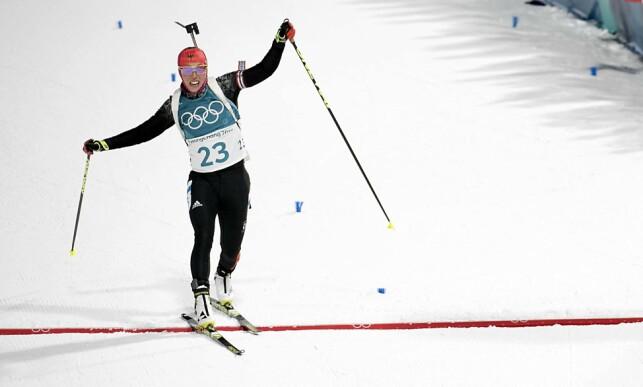 SUVEREN: Laura leverte en perfekt sprint, og vant et suverent OL-gull.