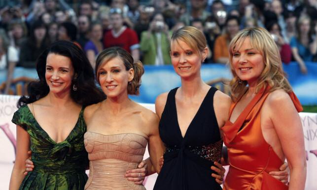 SUKSESS: Kristin Davis, Sarah Jessica Parker, Cynthia Nixon og Kim Cattrall har blitt verdensberømte gjennom «Sex and the City». Foto: NTB Scanpix