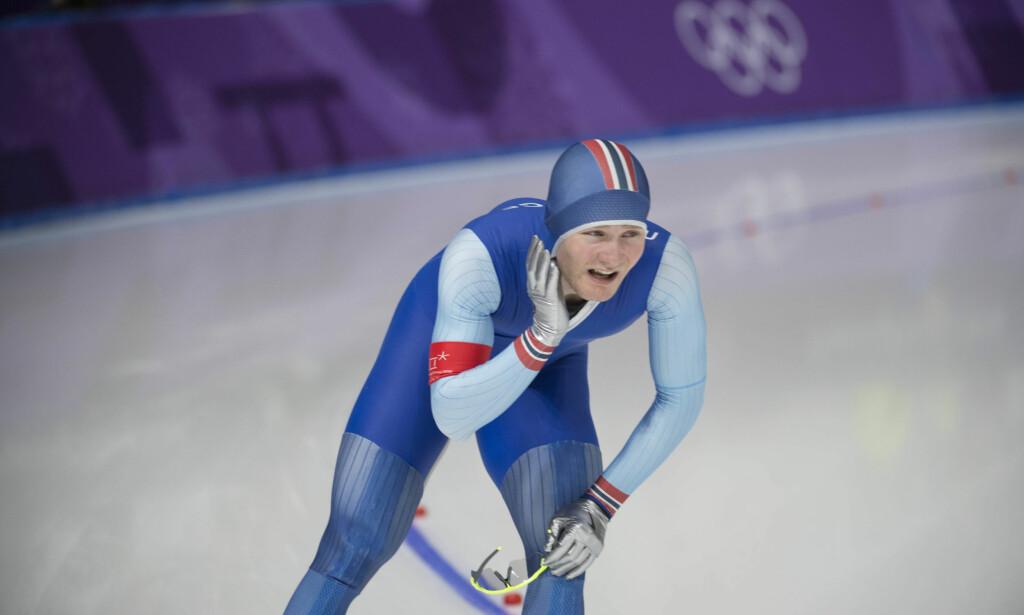 BRONSE: Det holdt ikke helt inn for Sverre Lunde Pedersen, men han sikret en bronsemedalje for Norge på dagens 5000 meter. Foto: Hans Arne Vedlog / Dagbladet