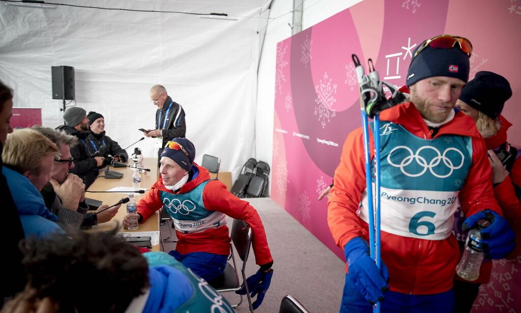 OVERRASKELSEN: Mens konkurrentene fokuserte på Martin Johnsrud Sundby, stakk Simen Hegstad Krüger fra feltet.Foto: Bjørn Langsem / Dagbladet