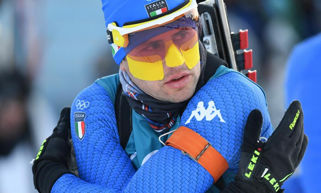 GUL: Windisch beskytter også ansiktet i OL. Foto: Hendrik Schmidt/dpa-Zentralbild/dpa
