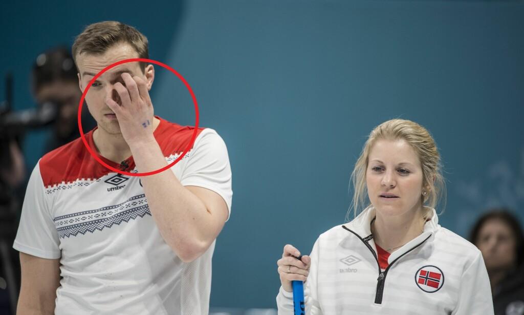 HBKOK: Magnus Nedregotten og Kristin Skaslien måtte se seg slått av Canada i nattas semifinale. Foto: Hans Arne Vedlog / Dagbladet