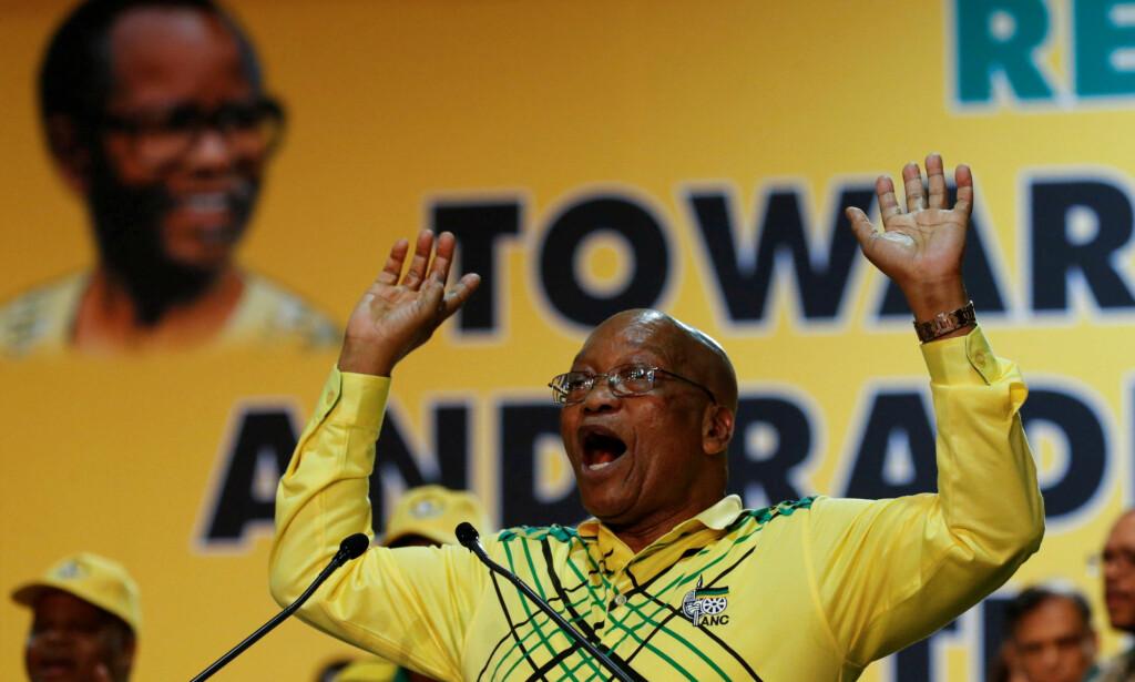 FERDIG?: Sør-Afrikas president, Jacob Zuma, kan få et endelig punktum på sin politiske karriere mandag. Foto: Reuters
