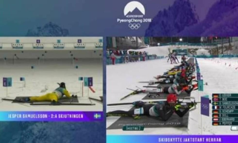 FEIL NAVN: Sebastian Samuelsson ble kalt Jesper da han skjøt for medalje på OL-jaktstarten.