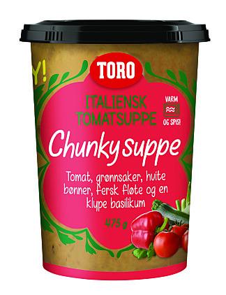 TORO TOMATSUPPE: Nå i fersk versjon, med biter av grønnsaker i.