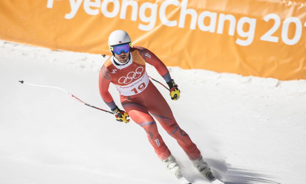 MEDALJE? Medaljehåpet for de norske alpintgutta er ikke ute, men det skal holde hardt. Her er Kjetil Jansrud i mål. Foto: Hans Arne Vedlog / Dagbladet