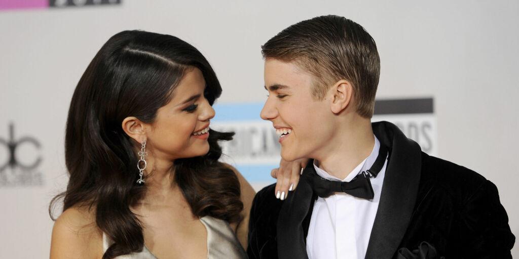 image: Justin og Selena klinte til på åpen gate