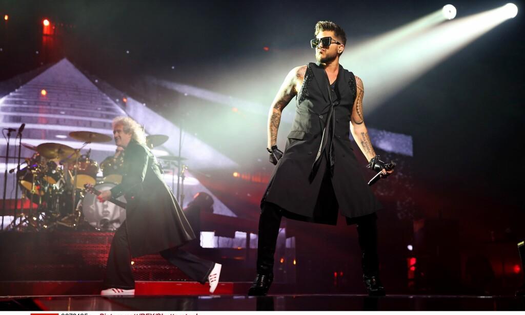 Til Norge: Queen med Adam Lambert. Foto: NTB scanpix