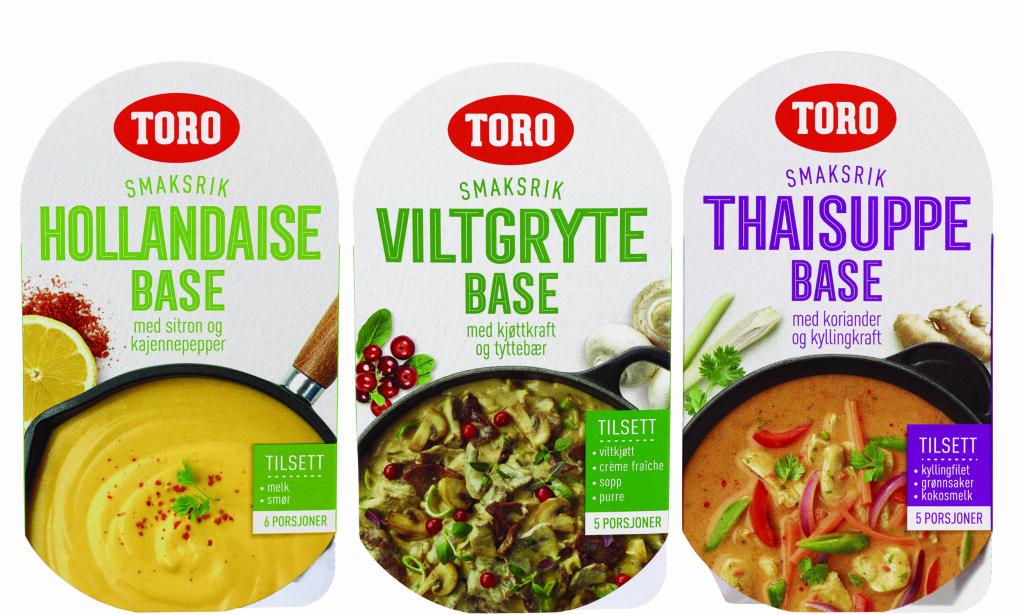 BASER: Toro lanserer elleve baser til supper, sauser og gryter.