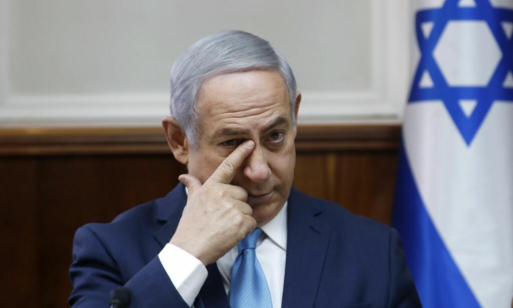 KORRUPSJON: Politiet mener Israels statsminister Benjamin Netanyahu bør tiltales for korrupsjon. Foto: Ronen Zvulun / AP / NTB scanpix
