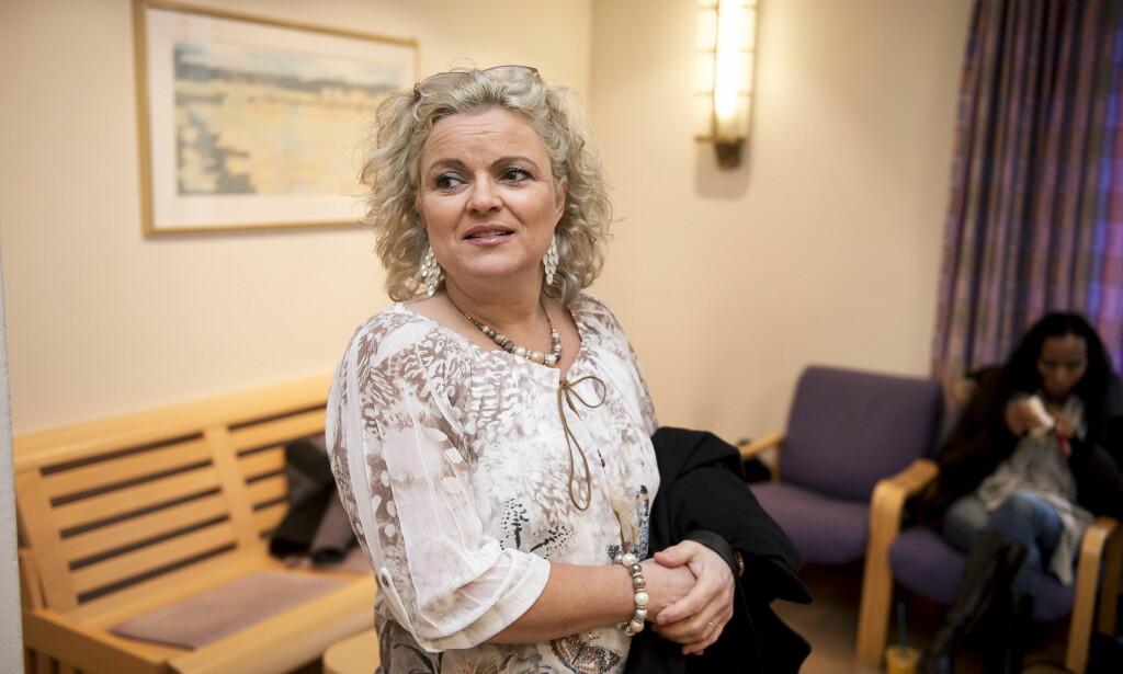 ANKER: Frisør Merete Hodne anker frifinnelsen av revygruppa Løgnaslaget til Lagmannsretten: Foto: Carina Johansen / NTB Scanpix