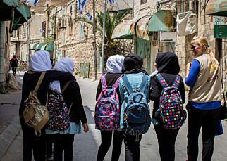I HEBRON: I den palestinske byen Hebron er det stadig sammenstøt mellom israelske bosettere og palestinere. Ledsagerne til EAPPI-programmet er på plass for å unngå sammenstøt og for å rapportere brudd. Foto: Kirkenes Verdensråd