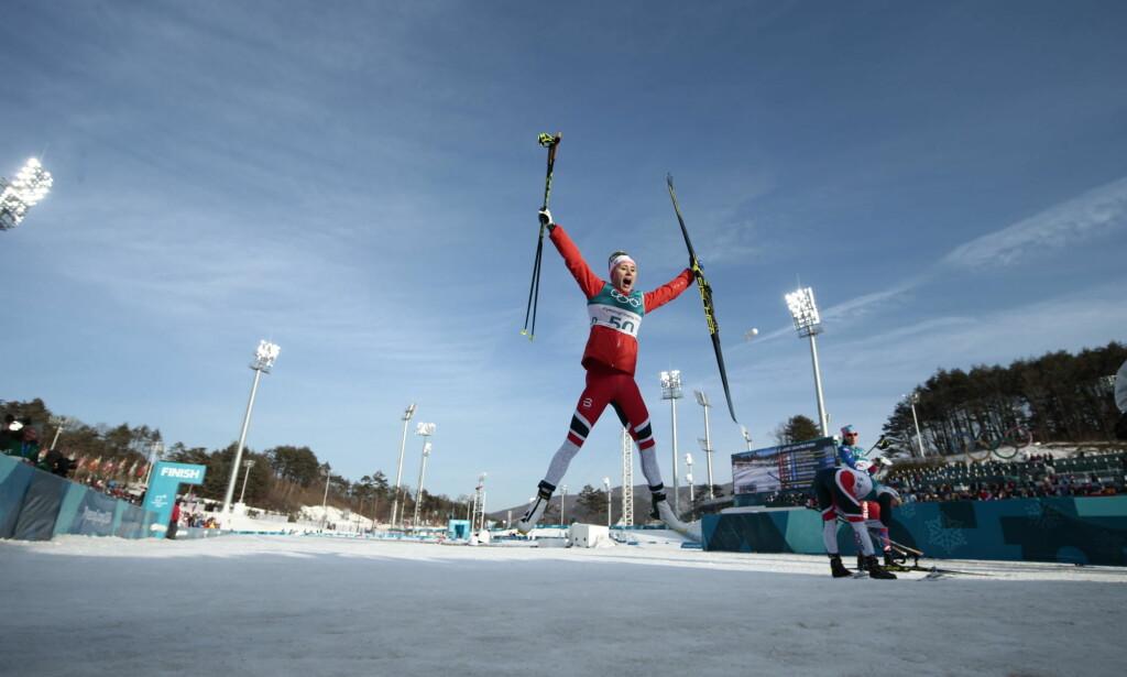 HURRA: Ragnhild Haga døpte dette til Ragnhild-dagen etter navnesøster Mowinckels OL-sølv tidligere. Foto: Bjørn Langsem/Dagbladet