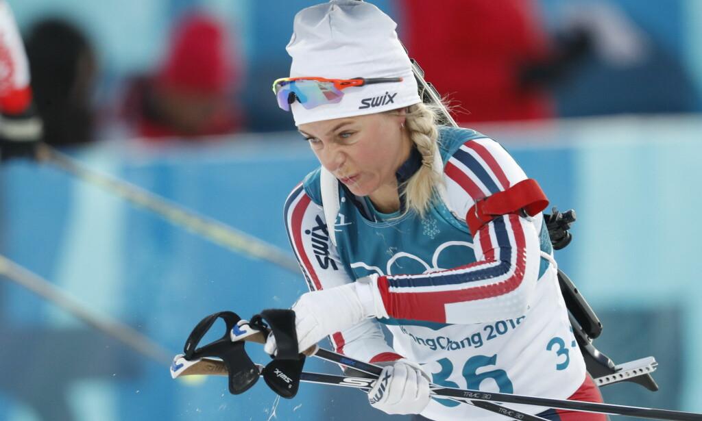 TUNGT: Tiril Eckhoff og de norske jentene fikk det tøft på normaldistansen torsdag. Foto: Bjørn Langsem/Dagbladet