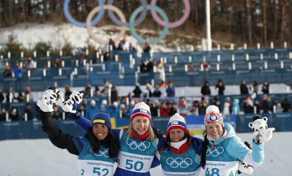 - RO DERE NED: Ragnhild Haga tok et sensasjonelt OL-gull på kvinnenes 10-kilometer. Expressens Tomas Pettersson ber nordmenn roe seg ned. Foto: Bjørn Langsem / Dagbladet