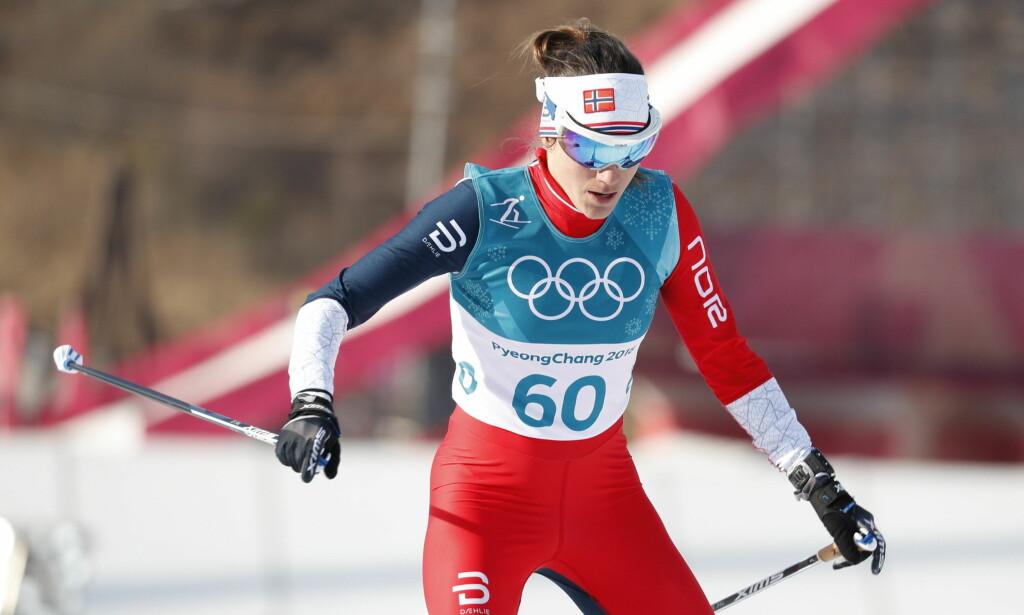 NY NEDTUR: Heidi Weng har ikke fått det til i OL. Nå spøker det for stafettplassen hennes. Foto: Bjørn Langsem / Dagbladet.