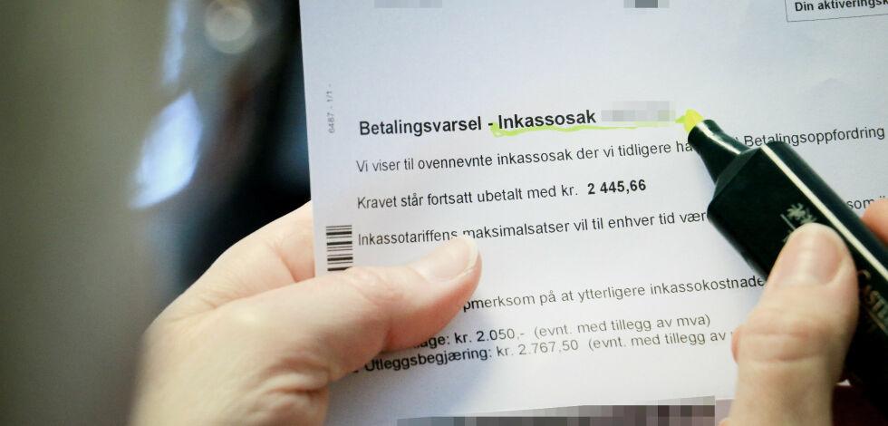 image: Ønsker å kutte inkasso-gebyrene med to milliarder kroner