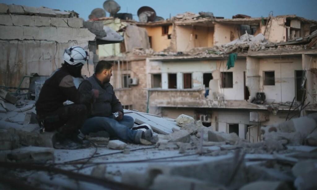 OSCAR-NOMINERT: «The Last Men in Aleppo» handler om organisasjonen De hvite hjelmene. Foto. The Sundance Institute / Grasshopper Films