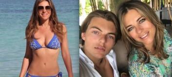 Sønnen tar de sexy bikini-bildene