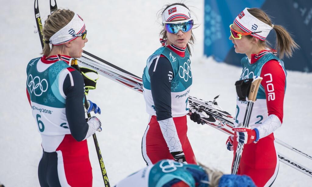 HVEM GÅR STAFETTEN? Både Ragnhild Haga, Heidi Weng og Ingvild Flugstad Østberg kan gå stafetten. Foto: Hans Arne Vedlog / Dagbladet