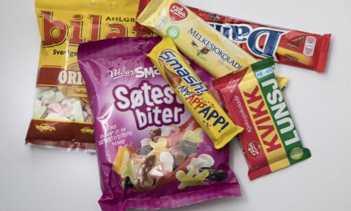 AVGIFTSHOPP: Sjokolade og godteri har fått langt høyere priser etter nyttår. Foto: Morten Eik