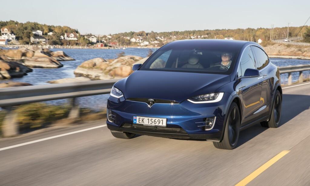 GARANTI-TAPER: Tesla har populære elbiler her i Norge, men de gjør det dårligst av samtlige merker i Forbrukerrådets Elbil-garantiguide 2018. <br>Foto: Morten Eik