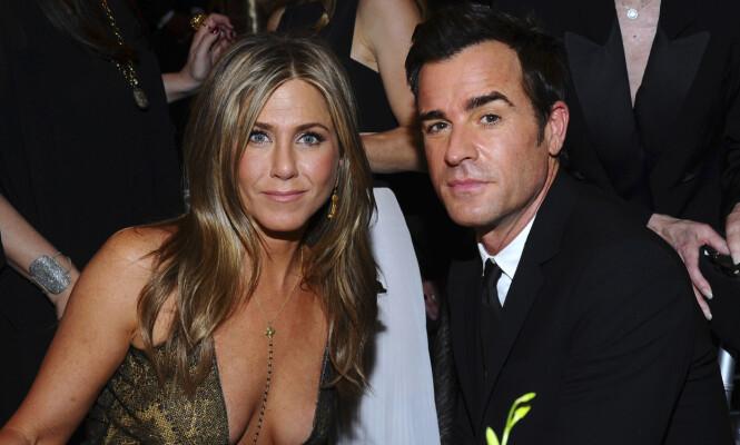 BRUDD: 15. februar 2018 bekreftet Jennifer Aniston og ektemannen Justin Theroux at de to har gått hvert til sitt etter åtte år som kjærester. Foto: NTB Scanpix