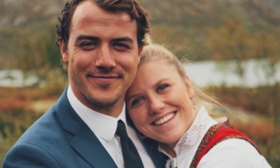 SAMBOERE: Tiril Sjåstad Christiansen og Stian Lauritzen traff hverandre i mai i fjor. Nå bor de sammen. Foto: Privat